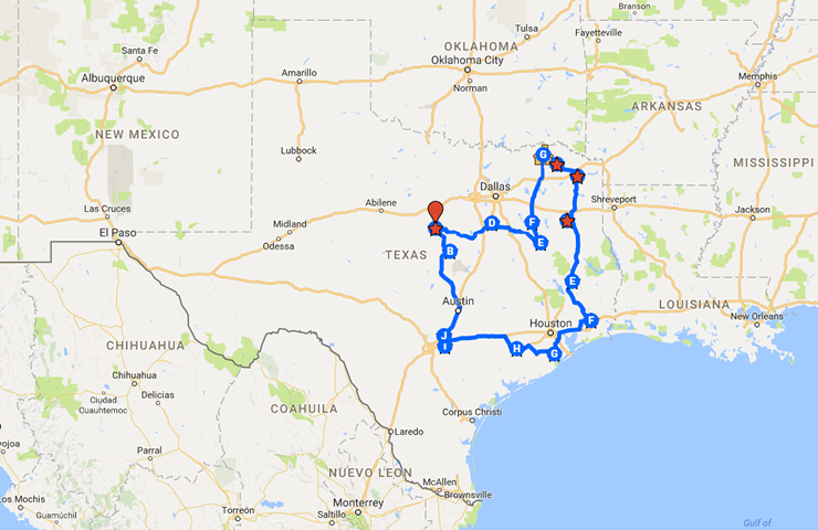 International Trip Around Texas