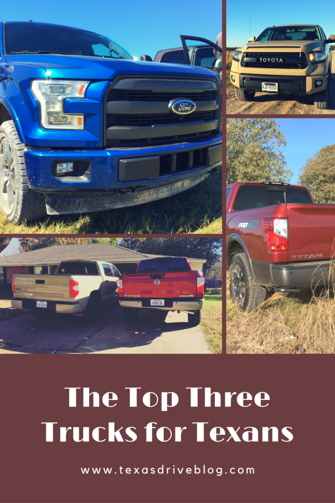 Top Three Trucks for Texans